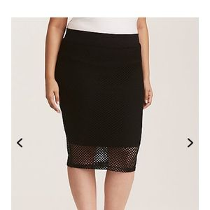 NWT Torrid 4X Mesh Pencil Skirt
